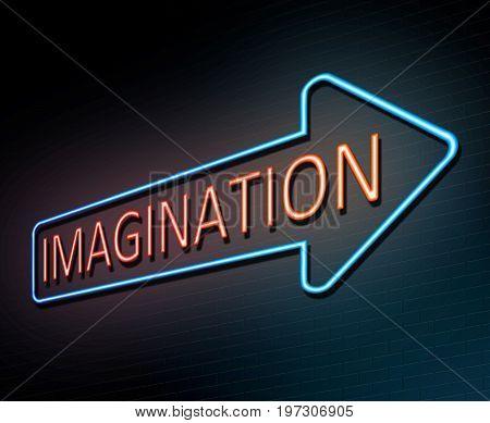 Neon Imagination Concept.