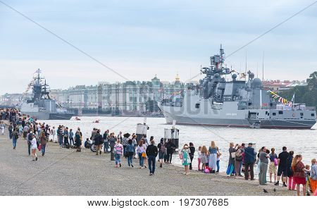 Rehearsal For The Parade Of Russian Navy