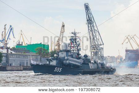 Nanuchka-class Missile Corvette On Neva River