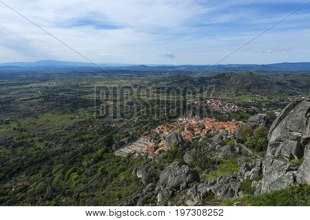 View of the historic village of Monsanto in Portugal; Concept for travel in Portugal