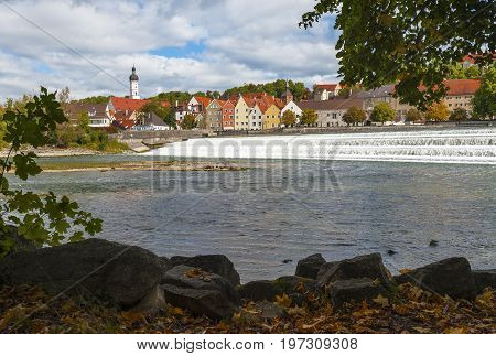 Landsberg am Lech, Germany - October 2016: charm of the small town of Romantic road