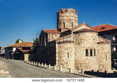 Church of St. John in Nessebar, Bulgaria. Built in the late tenth century.