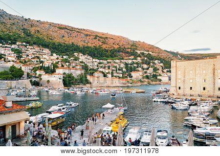 Evening In Saint John Fortress And Sailing Boats Dubrovnik Croatia