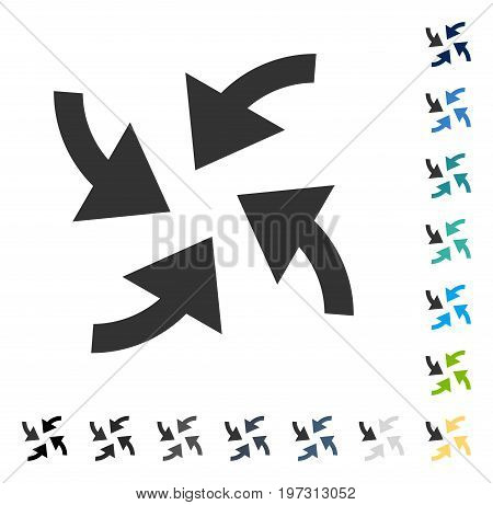 Cyclone Arrows icon. Vector illustration style is flat iconic symbol in some color versions.