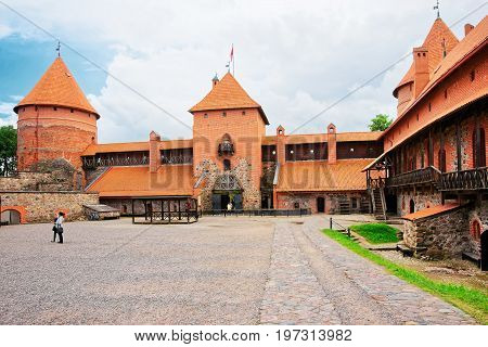 People At Trakai Island Castle Museum At Day Time Baltic