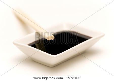 Soy Sauce Dish And Chopsticks 3