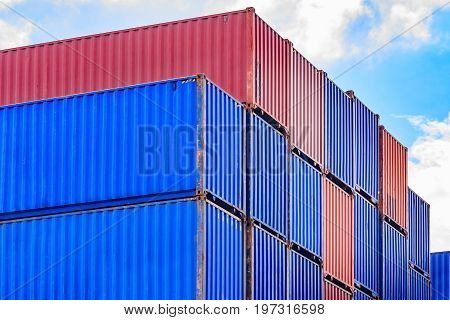 container container ship in import export and business logisticTrade Port Shipping cargo to harbor. for Logistic Import Export business