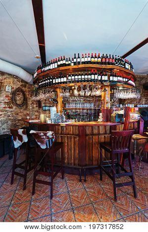 Interior Of Restaurant In Old Town Riga