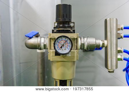 combination unit of air filter and pressure regulator with check valve pneumatic equipment