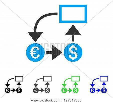 Cashflow flat vector pictogram. Colored cashflow gray, black, blue, green pictogram versions. Flat icon style for graphic design.