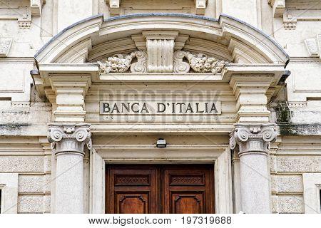 Banca Italia Entrance In Mantua