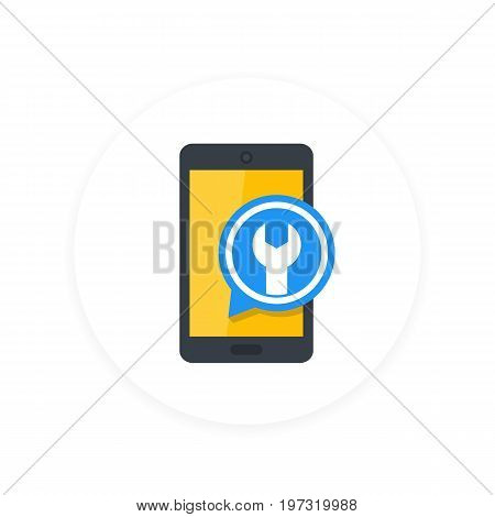 phone repair, configuration flat icon, eps 10 file, easy to edit