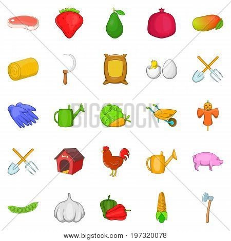 Butchery icons set. Cartoon set of 25 butchery icons for web isolated on white background