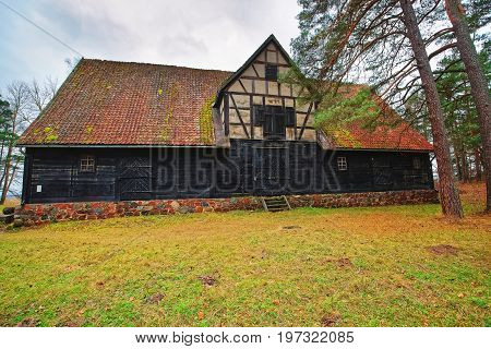 Old House In Ethnographic Open Air Village Of Riga Baltic