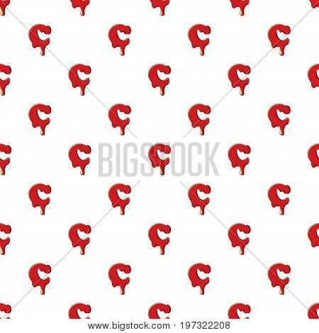 C letter isolated on white background. Red bloody C letter vector illustration