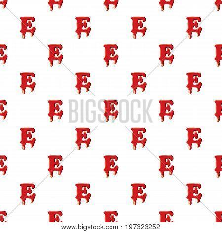 E letter isolated on white background. Red bloody E letter vector illustration