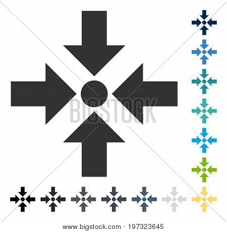 Shrink Arrows icon. Vector illustration style is flat iconic symbol in some color versions.