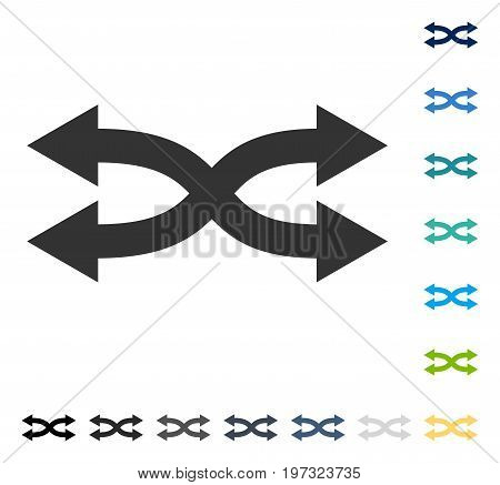 Shuffle Arrows Horizontal icon. Vector illustration style is flat iconic symbol in some color versions.