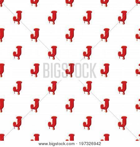 J letter isolated on white background. Red bloody J letter vector illustration