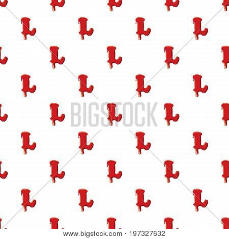 L letter isolated on white background. Red bloody L letter vector illustration