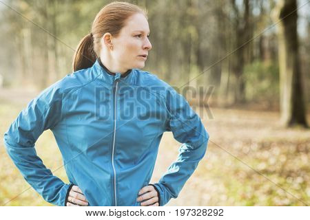 Active Woman In A Park