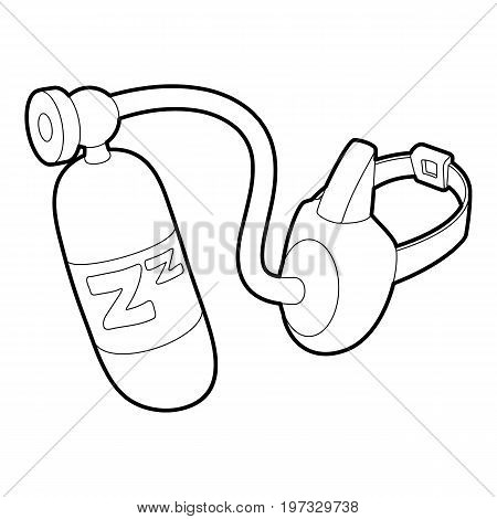 Oxygen mask icon. Outline illustration of oxygen mask vector icon for web design