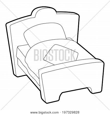 Bed icon. Outline illustration of bed vector icon for web design
