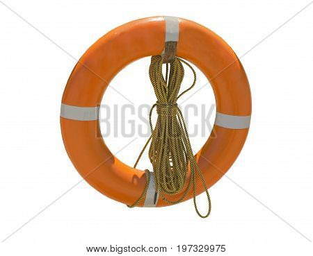 the rescue ring on a white background