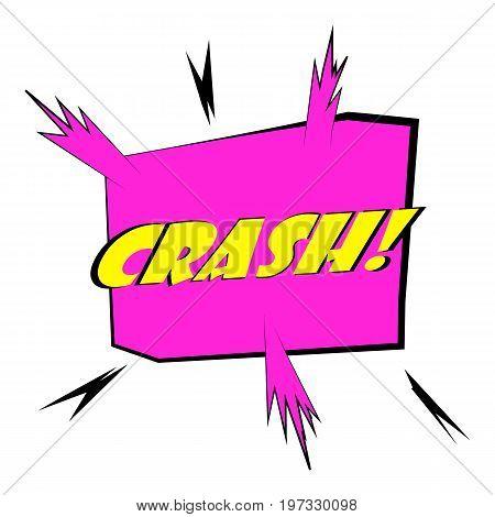 Crash, explosion speech bubble icon. Cartoon illustration of crash speech bubble vector icon for web design