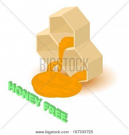 Honey allergen free icon. Isometric illustration of honey vector icon for web design