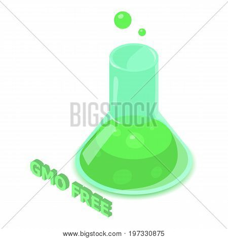 GMO allergen free icon. Isometric illustration of GMO vector icon for web design