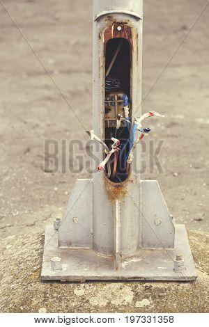 Lightpole Copper Theft, Damaged Street Lights 5