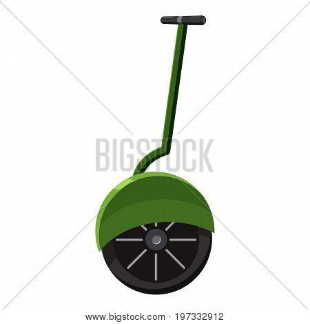 Solo wheel unicycle icon. Cartoon illustration of solo wheel unicycle vector icon for web design