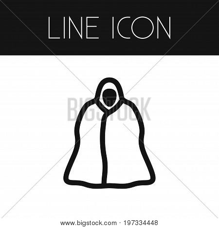 Raincoat Vector Element Can Be Used For Cloak, Protection, Raincoat Design Concept.  Isolated Cloak Outline.