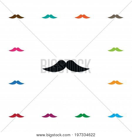 Barber Vector Element Can Be Used For Moustache, Barber, Whiskers Design Concept.  Isolated Moustache Icon.