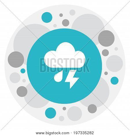 Vector Illustration Of Air Symbol On Cloudburst Icon