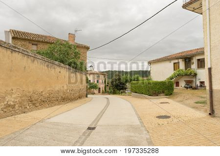 The Town Of Obanos In Navarre, Spain