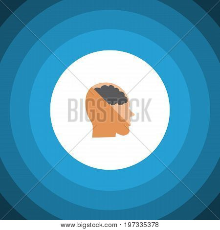 Thinking Vector Element Can Be Used For Thinking, Brain, Human Design Concept.  Isolated Invention Flat Icon.