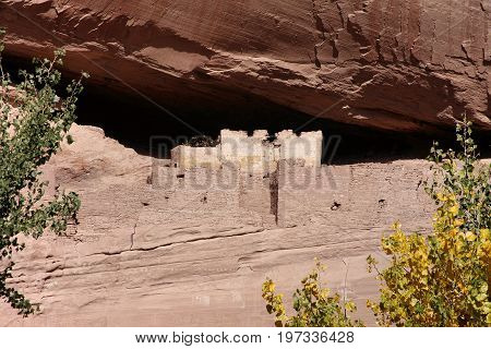 Ancient Anasazi White House Ruins in Canyon de Celly National Park on the Navajo Reservation in Arizona