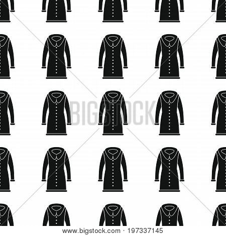 Topcoat seamless pattern vector illustration background. Black silhouette Topcoat stylish texture. Repeating Topcoat seamless pattern background for clothes design and web