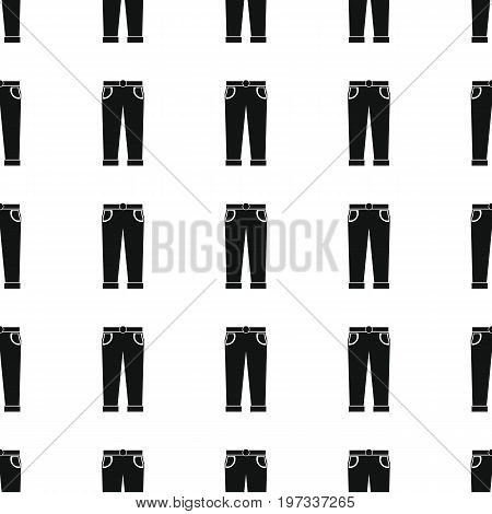Trousers or jeans seamless pattern vector illustration background. Black silhouette jeans stylish texture. Repeating jeans seamless pattern background for clothes design and web