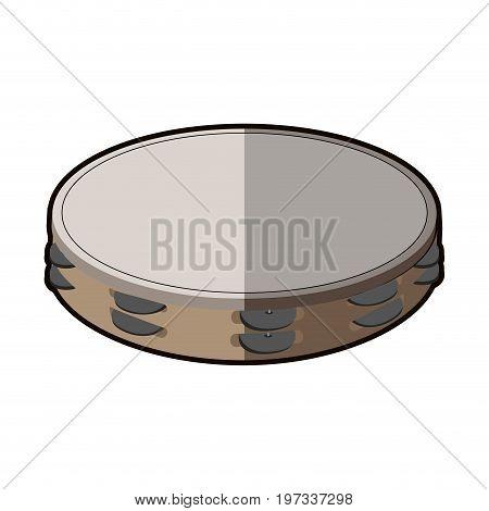 Isolated Tambourine Icon