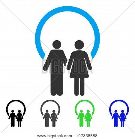 Marriage flat vector pictograph. Colored marriage gray, black, blue, green icon variants. Flat icon style for web design.
