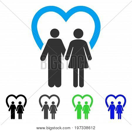 Marriage flat vector icon. Colored marriage gray, black, blue, green pictogram versions. Flat icon style for application design.