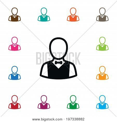 Depositor Vector Element Can Be Used For Boy, Depositor, Croupier Design Concept.  Isolated Boy Icon.