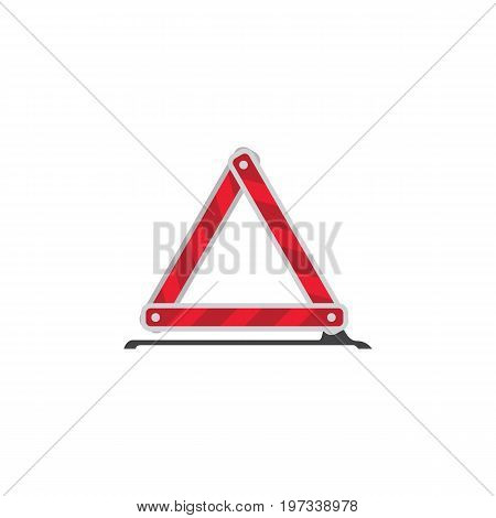 Warning Vector Element Can Be Used For Warning, Emergency, Stop Design Concept.  Isolated Emergency Stop Flat Icon.