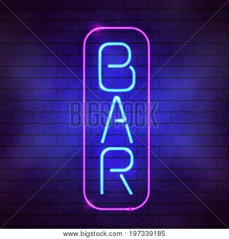 Bar Sign In Front Of A Wall