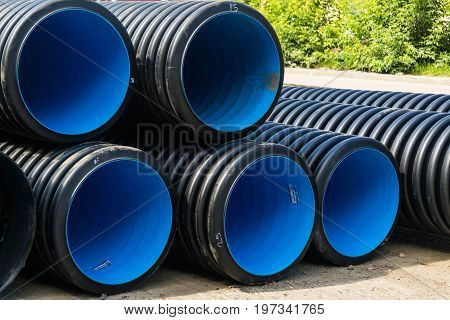 Sewer Pipes Of Large Diameter Pvc