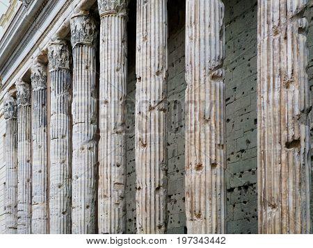 Corinthian Granite Columns Of Pantheon In Rome