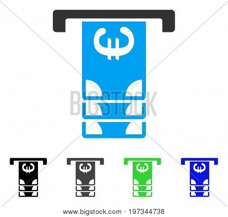 Euro ATM Withdraw flat vector icon. Colored euro ATM withdraw gray, black, blue, green icon variants. Flat icon style for application design.